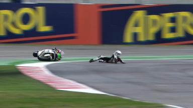 Misano 2012 - Moto2 - FP2 - Action - Anthony West - Crash
