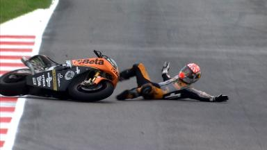 Misano 2012 - Moto2 - FP2 - Action - Johann Zarco - Crash