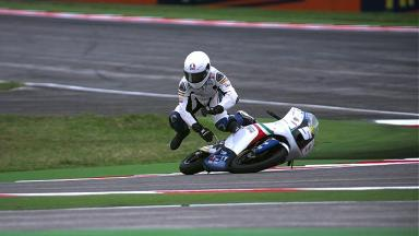 Misano 2012 - Moto3 - FP2 - Action - Romano Fenati - Crash