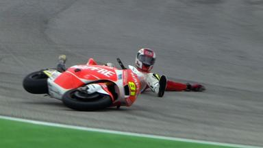 Misano 2012 - Moto2 - FP3 - Action - Jordi Torres - Crash