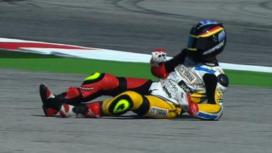 Misano 2012 - Moto2 - QP - Action - Marcel Schrotter - Crash