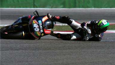 Misano 2012 - Moto2 - QP - Action - Pol Espargaro - Crash