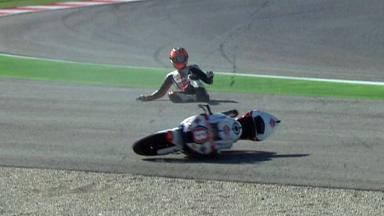 Misano 2012 - Moto2 - QP - Action - Gino Rea - Crash