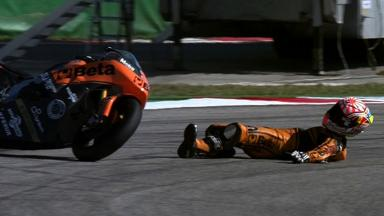 Misano 2012 - Moto2 - QP - Action - Johann Zarco - Crash