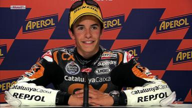 Misano 2012 - Moto2 - QP - Interview - Marc Marquez