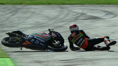 Misano 2012 - Moto3 - FP3 - Action - Niklas Ajo - Crash