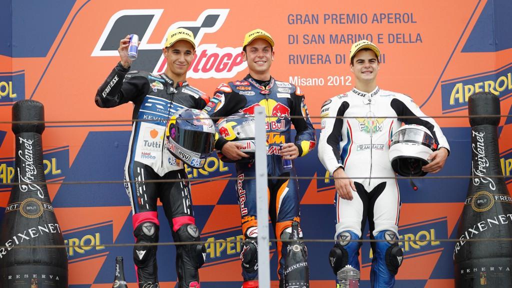 Salom, Cortese, Fenati, RW Racing GP, Red Bull KTM Ajo, Team Italia FMI, Misano RAC