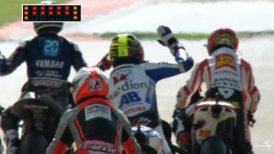 Misano race start procedure interruption