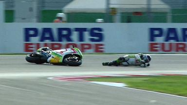Misano 2012 - MotoGP - Warm Up - Action - Hector Barbera - Crash