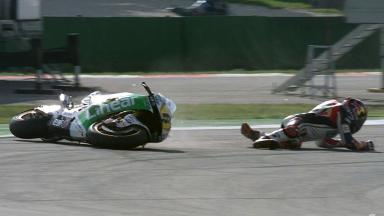 Misano 2012 - MotoGP - Warm Up - Action - Stefan Bradl - Crash