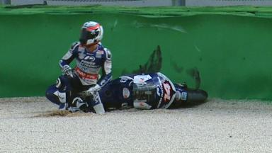 Misano 2012 - MotoGP - Warm Up - Action - Randy De Puniet - Crash