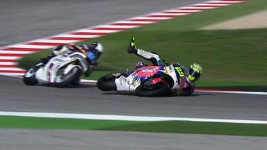 Misano 2012 - Moto2 - Warm Up - Action - Andrea Iannone - Crash