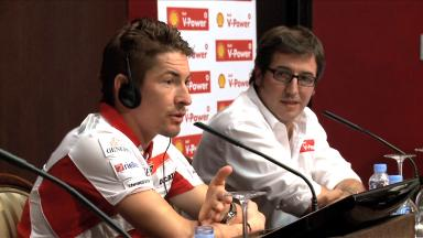 Nicky Hayden at the University of Zaragoza