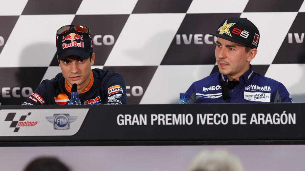 Pedrosa, Lorenzo, Repsol Honda Team, Yamaha Factory Racing, Gran Premio Iveco de Aragón Press Conference