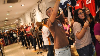 Dani Pedrosa meets fans, Barcelona