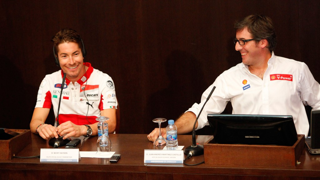 Nicky Hayden, Juan Martinez, Ducati Team, University of Zaragoza