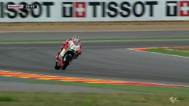 After an oil spillage in Moto3™ FP1 delayed the start of MotoGP™ free practice by nearly an hour at the Gran Premio Iveco de Aragón, Nicky Hayden finished the session fastest on a damp track ahead of Valentino Rossi and Aleix Espargaró - with only nine riders participating in the outing and no factory bikes on show other than the Ducati machines.