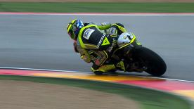 Speed Master's Andrea Iannone was the sharpest participant in the opening Moto2™ practice of the Gran Premio Iveco de Aragón weekend, with Gino Rea and Thomas Lüthi behind the Italian on the timesheet, as the rain fell heavily at the Spanish venue.