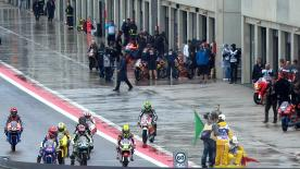 In a rain-hit afternoon Moto3™ free practice at the Gran Premio Iveco de Aragón it was Estrella Galicia 0,0's Miguel Oliveira who mastered the wet track conditions the best, heading Danny Kent and Zulfahmi Khairuddin.
