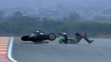Aragon 2012 - Moto2 - FP2 - Action - Eric Granado - Crash