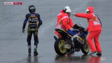 Aragon 2012 - Moto2 - FP2 - Action - Xavier Simeon - Crash
