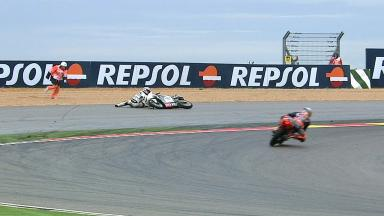 Aragon 2012 - Moto3 - FP1 - Action - Juan Francisco Guevara - Crash