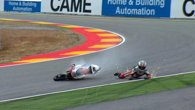 Aragon 2012 - Moto3 - FP1 - Action - Danny Webb - Crash