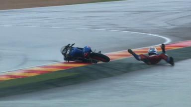Aragon 2012 - Moto3 - FP2 - Action - John McPhee - Crash
