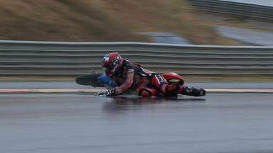 Aragon 2012 - Moto3 - FP2 - Action - Alberto Moncayo - Crash