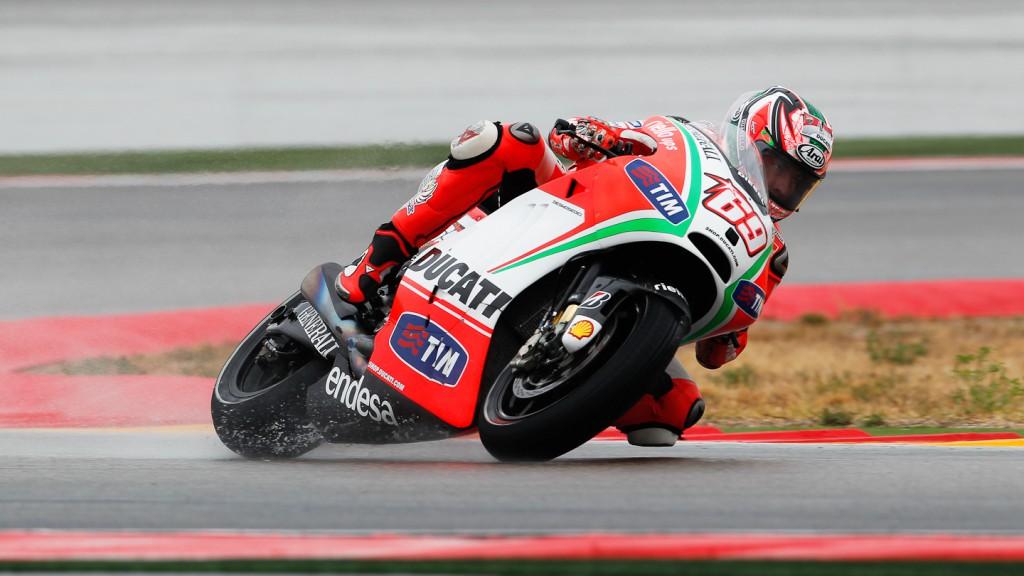 Nicky Hayden, Ducati Team, Aragón FP2