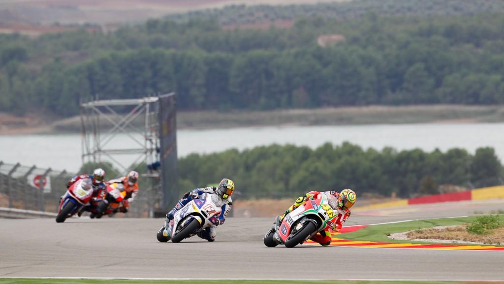 Valentino Rossi, Karel Abraham, Ducati Team, Cardion AB Motoracing, Aragón QP