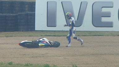 Aragon 2012 - MotoGP - FP3 - Action - Karel Abraham - Crash