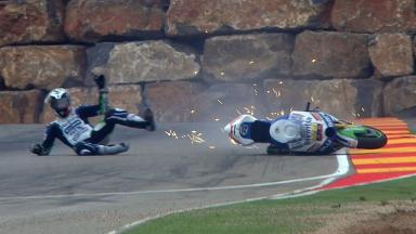Aragon 2012 - MotoGP - QP - Action - Yonny Hernandez - Crash