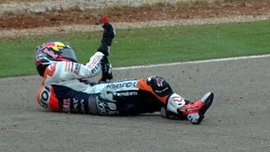Aragon 2012 - MotoGP - QP - Action - Dani Pedrosa - Crash