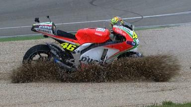 Aragon 2012 - MotoGP - QP - Action - Valentino Rossi - Crash
