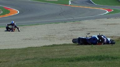 Aragon 2012 - Moto2 - QP - Action - Alex Mariñelarena - Crash