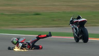 Aragon 2012 - Moto2 - QP - Action - Alessandro Andreozzi - Crash
