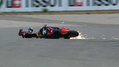 Aragon 2012 - Moto2 - QP - Action - Alex De Angelis - Crash