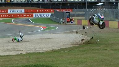 Aragon 2012 - Moto2 - QP - Action - Tomoyoshi Koyama - Crash