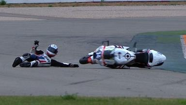 Aragon 2012 - Moto2 - QP - Action - Ratthapark Wilairot - 2nd. Crash