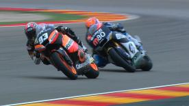 It was Came IodaRacing Project's Simone Corsi who charged to his first ever intermediate-class pole position for tomorrow's Gran Premio Iveco de Aragón after putting in a terrific performance ahead of Pol Espargaró and Andrea Iannone.