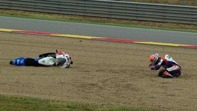 Aragon 2012 - Moto3 - FP3 - Action - Isaac Viñales - Crash
