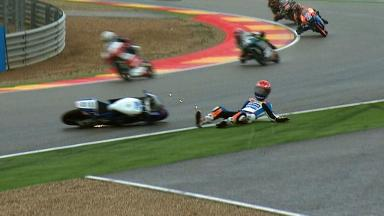 Aragon 2012 - Moto3 - FP3 - Action - Jasper Iwema - Crash
