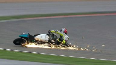 Aragon 2012 - Moto3 - FP3 - Action - Jorge Navarro - Crash