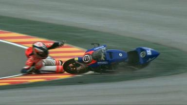 Aragon 2012 - Moto3 - FP3 - Action - Jack Miler - Crash