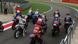 The Moto3™ grid was greeted by a continually drying track for qualifying at the Gran Premio Iveco de Aragón where it was Mapfre Aspar Team Moto3's Jonas Folger who stormed to his maiden GP pole position ahead of Luis Salom and Sandro Cortese.