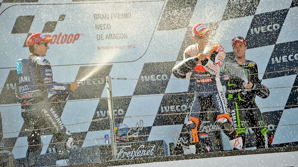 Lorenzo, Pedrosa, Dovizioso, Yamaha Factory Racing, Repsol Honda Team, Monster Yamaha Tech 3, Aragón RAC
