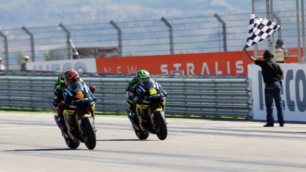 Andrea Dovizioso, Cal Crutchlow, Monster Yamaha Tech 3, Aragón RAC