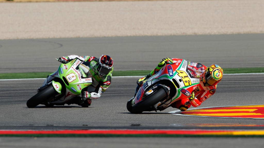 Valentino Rossi, Hector Barbera, Ducati Team, Pramac Racing Team, Aragón RAC