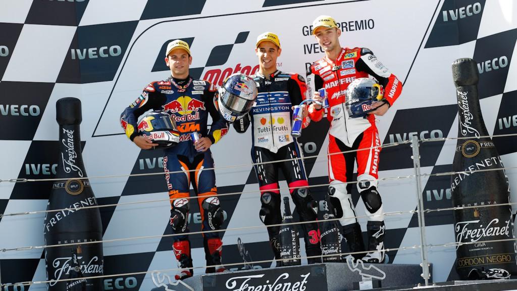 Cortese, Salom, Folger, Red Bull KTM Ajo, RW Racing GP, Mapfre Aspar Team Moto3, Aragón RAC